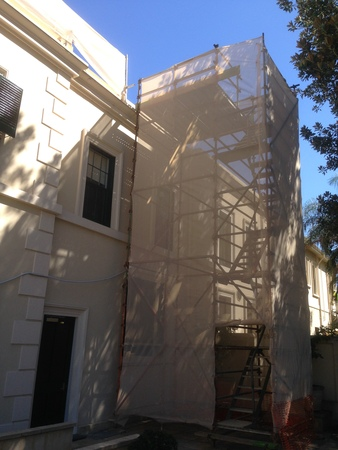 Scaffolding on Government House
