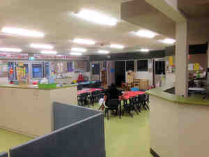 Internal view  of the childcare centre showing one of the activity rooms