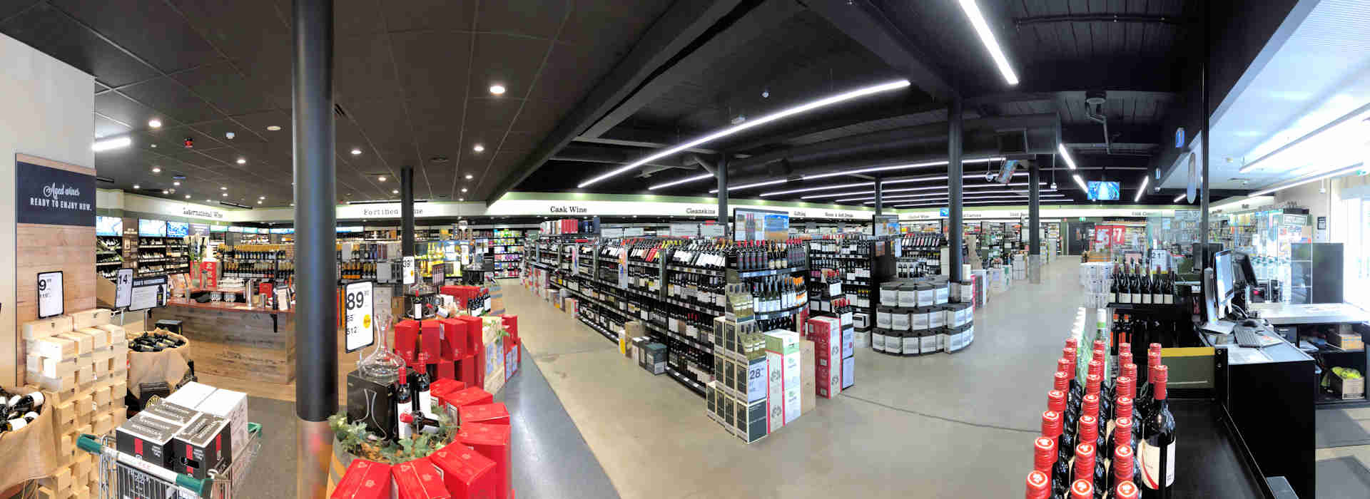 Panoramic view of Dan Murphys St Peters
