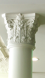 Restoration & preservation of plaster moulding around column capital