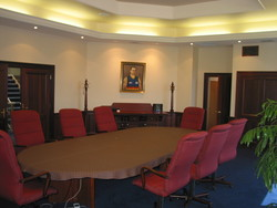 A boardroom table supplied by the joinery fabrication team