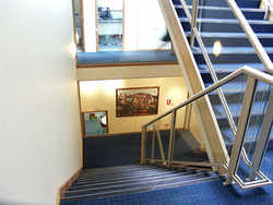 Stairwell constructed by Brimblecombe as part of the development of the clubrooms