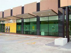 A modern facade was added to the Mitcham Branch
