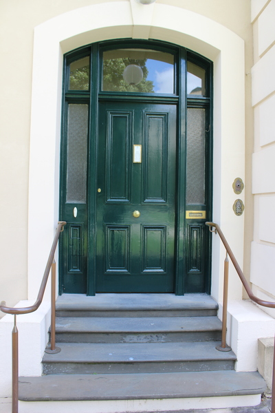 The front door of Government House