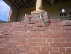 Salt damp damaged brickwork restored by Brimblecombe Builders