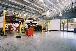 Industrial workshop constructed at Stepney for CMI Toyota by Brimblecombe Builders
